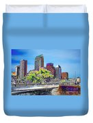 Neon Tampa Duvet Cover by Carol Groenen
