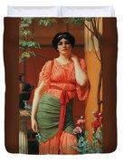 Nerissa Duvet Cover by John William Godward