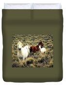 Nevada Wild Horses Duvet Cover by Marty Koch