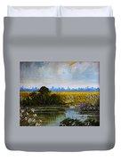 New Jersey Marsh Duvet Cover by Karon Melillo DeVega