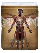 New Vitruvian Woman Duvet Cover by Jim Dowdalls and Photo Researchers