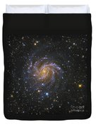 Ngc 6946, Also Known As The Fireworks Duvet Cover by Robert Gendler
