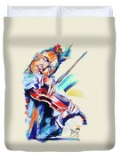 Nigel Kennedy Duvet Cover by Melanie D