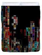 Night on the Town - Digital Art Duvet Cover by Carol Groenen