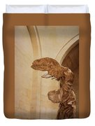 Nike Of Samothrace Duvet Cover by JAMART Photography