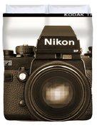 Nikon F3 Hp Duvet Cover by Mike McGlothlen