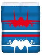No128 My Top Gun Minimal Movie Poster Duvet Cover by Chungkong Art