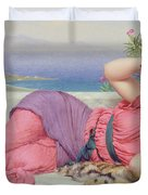 Noon Day Rest Duvet Cover by John William Godward