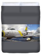 North American F-86 Sabre Duvet Cover by Larry McManus