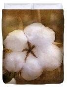 North Carolina Cotton Boll Duvet Cover by Benanne Stiens