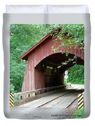 North Fork Yachats Bridge 2 Duvet Cover by Methune Hively