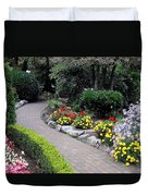 North Vancouver Garden Duvet Cover by Will Borden
