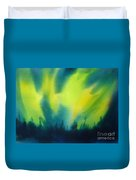 Northern Lights I Duvet Cover by Kathy Braud