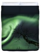 Northern Lights In The Arctic Duvet Cover by Arild Heitmann