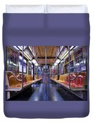 Nyc Subway Duvet Cover by Kelley King