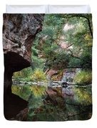 Oak Creek Canyon Reflections Duvet Cover by Dave Dilli