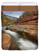 Oak Creek In Slide Rock State Park Duvet Cover by Tim Fitzharris
