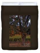 Oak Tree And Vineyards In Knight's Valley Duvet Cover by Charlene Mitchell