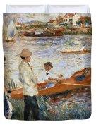 Oarsmen At Chatou Duvet Cover by Pierre Auguste Renoir