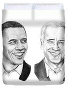 Obama Biden Duvet Cover by Murphy Elliott