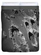 Oblique View Of The Lunar Surface Duvet Cover by Stocktrek Images