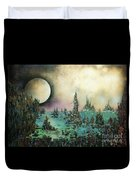 Ocean Moonrise Duvet Cover by Kaye Miller-Dewing