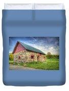 Old Barn At Dusk Duvet Cover by Scott Norris