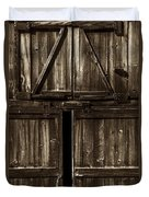 Old Barn Door - Toned Duvet Cover by Paul W Faust -  Impressions of Light