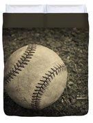 Old Baseball Duvet Cover by Edward Fielding