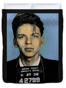 Old Blue Eyes - Frank Sinatra Duvet Cover by Bill Cannon
