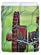 Old Cog Wheel Duvet Cover by Kaye Menner