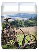 Old Farm Equipment . 7d9744 Duvet Cover by Wingsdomain Art and Photography