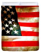 Old Glory Patriot Flag Duvet Cover by Phill Petrovic