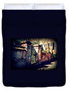 Old Iron Gate In Charleston Sc Duvet Cover by Susanne Van Hulst