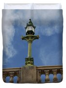 Old London Bridge - AZ Duvet Cover by Carol  Eliassen