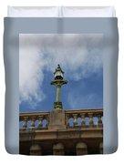 Old London Bridge - Az Duvet Cover by Carol  Eliassen