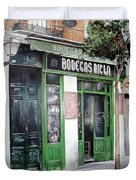 Old Tavern-madrid Duvet Cover by Tomas Castano