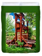 Old Wine Press Duvet Cover by Mariola Bitner