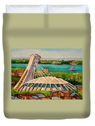 Olympic Stadium  Montreal Duvet Cover by Carole Spandau