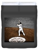 Omar Quintanilla Pro Baseball Player Duvet Cover by Marilyn Hunt