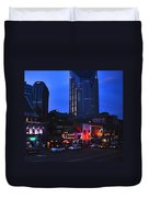 On Broadway In Nashville Duvet Cover by Susanne Van Hulst