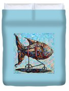 On The Conquer For Land Duvet Cover by Darwin Leon