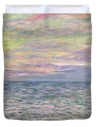 On the High Seas Duvet Cover by Claude Monet