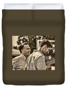 On The Road-mitt Romney Duvet Cover by Joann Vitali