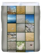 One Day At The Beach Ll Duvet Cover by Michelle Calkins