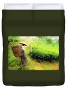 One Day In Tea Plantation  Duvet Cover by Charuhas Images