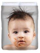 One Messy Baby Boy Duvet Cover by Oleksiy Maksymenko