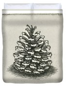 One Pinecone Duvet Cover by Charles Harden