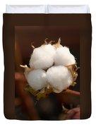 Open Cotton Boll Duvet Cover by Douglas Barnett