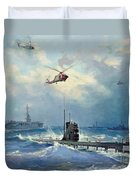 Operation Kama Duvet Cover by Valentin Alexandrovich Pechatin